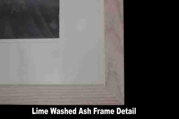 Lime Washed Ash Wood Frame