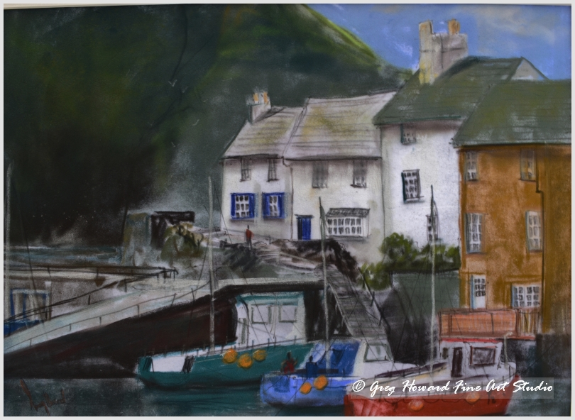 Title Polperro Harbour Cornwall This Is An Original