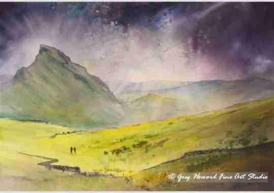 Storm Over Chrome Hill Derbyshire