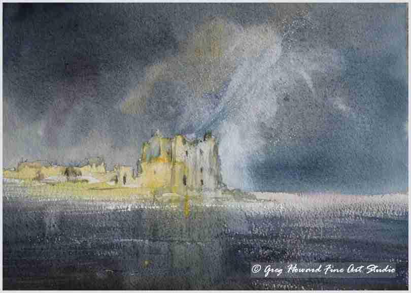 Storm Over Piel Castle