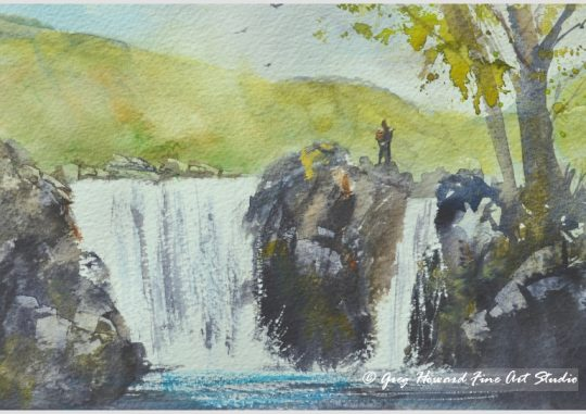 Waterfall In Langstrath Valley